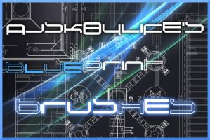 Blue Print Brushes by ajsk84life