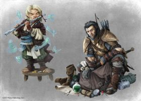 Pathfinder - Bard and Fighter by TimKings-Lynne