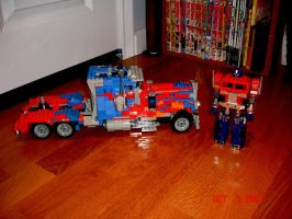 LEGO Movie Optimus Side by brotherpanda