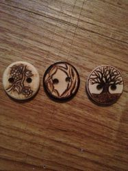 Larp buttons by CarvingConsugar