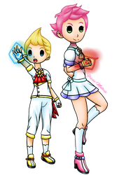 Magical Girl Collab #2: Kumatora and Lucas by YessieMaltese