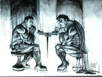 supes,bats, and chess by jamce