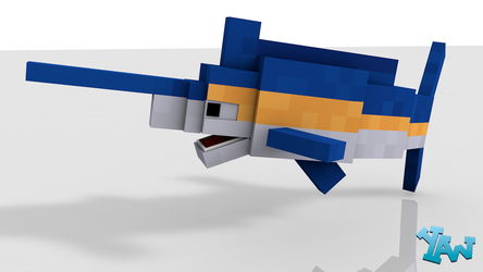 Minecraft Marlin Model For C4D by CraftDAnimation
