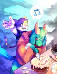 Commission: Happy Birt- by NERD-that-DRAWS