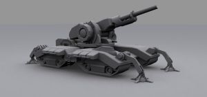 Artillery Tank low poly by DanielDoerksen