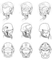 Various Helmet Concepts by solidoussnk