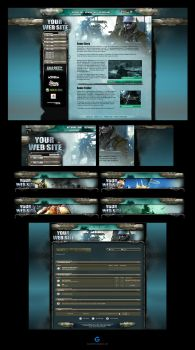 Battlefield Web Template Skin by karsten