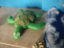 Green Sea Turtle Plush by Homemade-Happiness