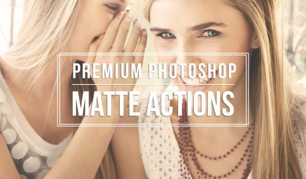 Photoshop Matte Actions by Graphicadi