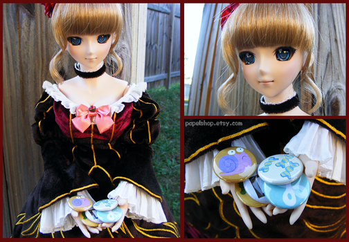 Beatrice and New MLP buttons by papelshop