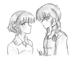 Ranma, Akane and the love by B-Len