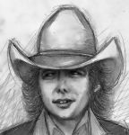 Quick Dwight Yoakam Sketch II by dwightyoakamfan