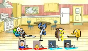 CF resquest mordecai and rigby vs finn and jake by SuperMaster10