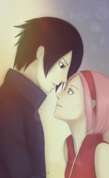 Sasuke and Sakura by KarenOArt