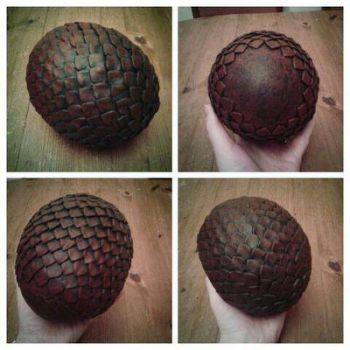 Finished Game of Thrones Drogon Egg by BigMamaBear