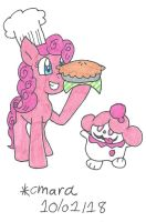 Pinkie and Slurpuff make pie