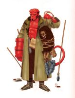 Old Hellboy by alanrobinson