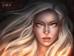 Aelin Galathynius [Commission] by Alrooney