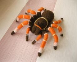 Needle felted Tarantula, again by thai-binturong