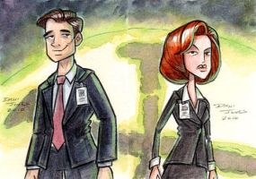 X-Files Heroes by danidraws