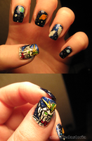 gundam wing nails by xtheungodx