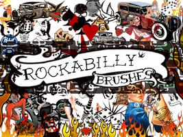 Rockabilly Gimp Brushes by MaxPowersXx