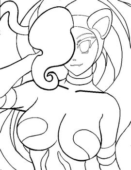 Felicia Line art by christioni96