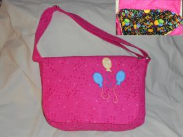 Pinkie Pie Messenger Bag with Birthday by Hop-is-my-Hero