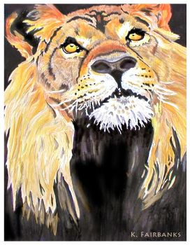 The Lion (painting) by kfairbanks