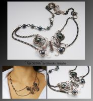 Vanessa- wire wrapped necklace by mea00