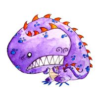 Monster of the Day 917 Scared T-Rex Monster! by jurries21