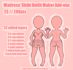 Waitress' Chibi Outfit Maker Base Add-ons by er-ro