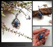 Saraid- wire wrapped silver necklace by mea00