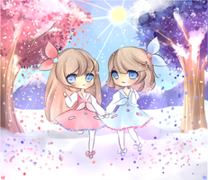 Pink and Blue by mochatchi