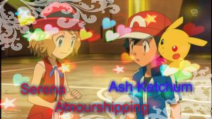 Serena and Ash Ketchum Amourshipping by JorgeMoctezuma