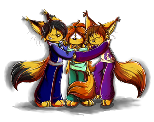 Brothers hug by RociDrawings97