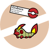 Fake Pokemon: Gruburn by Sageroot