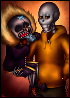 US Pap and UF Sans - Chocolate by CreepyPSo