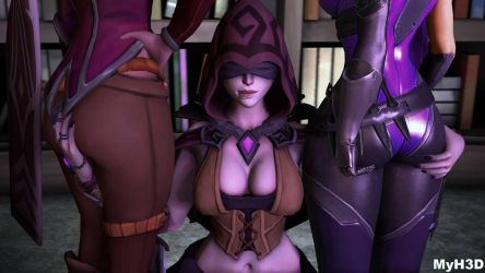 Seris, skye and Vivian by MyH3D