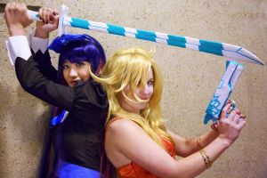 Panty and Stocking, Backlace and Stripes Cosplay by firecloak