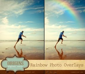 Realistic Rainbow PNG Photo Overlays by DigitalCurio