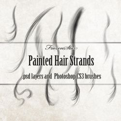 FS Painted Hair Strands by FrozenStarRo