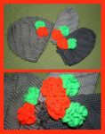 Hurricane neon flower hats by KnitLizzy