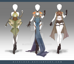 (CLOSED) Adoptable Outfit Auction 171-173 by JawitReen