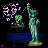 Skullgirls: The Night Before July 4th by southpawper
