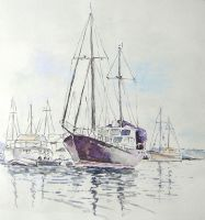 Boat sketch by ecobiotic
