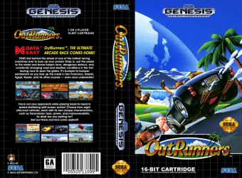 VHS Genesis| OutRunners - Cover Art V1 (JAP) by Neo-the-Hedgefox