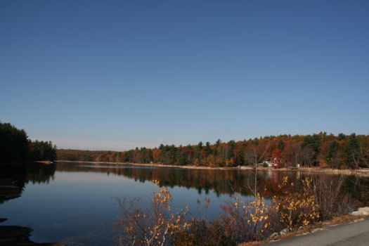 Fall Scene At Whitin Reservoir by dre4mass
