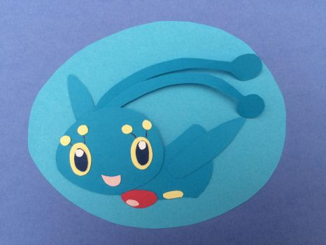 Papercraft Manaphy by The-Emerald-Otter