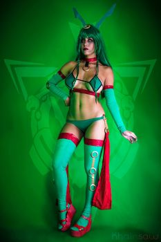 Pokemon Gijinka Cosplay: A Wild Rayquaza Appeared! by Khainsaw